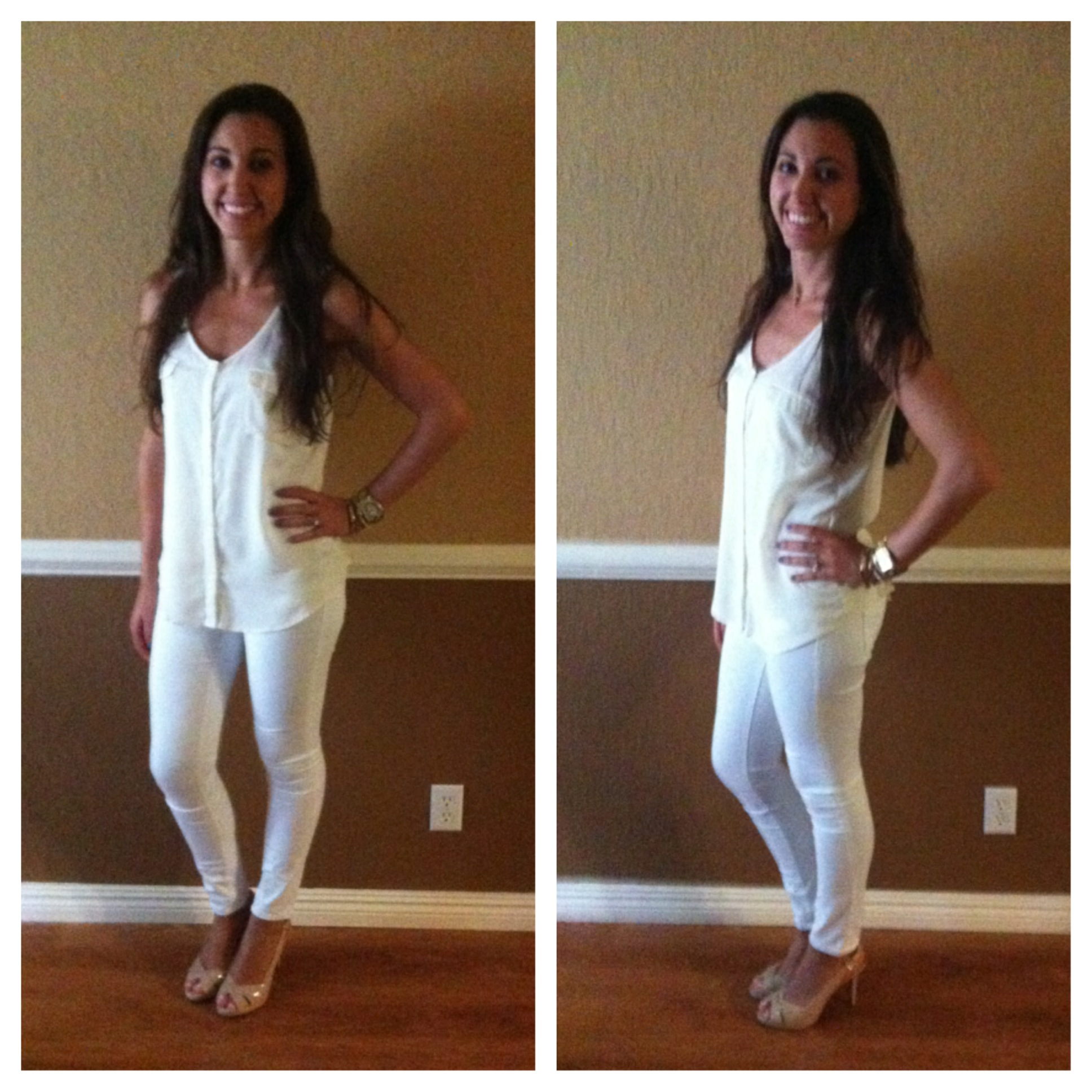 Img White Skinny Jeans With Heels